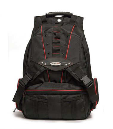 Premium Backpack - Black with Red Trim-19256