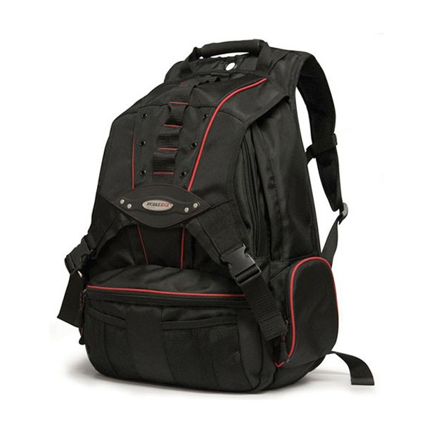 Premium Backpack - Black with Red Trim-0