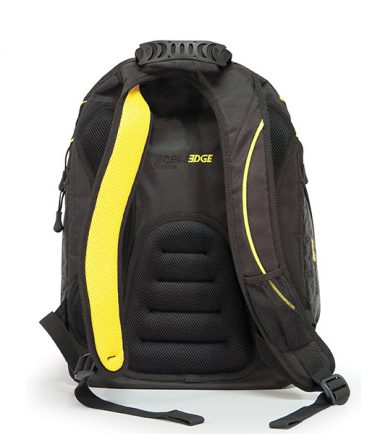 Express Laptop Backpack - Black / Yellow - Ergonomic Backing