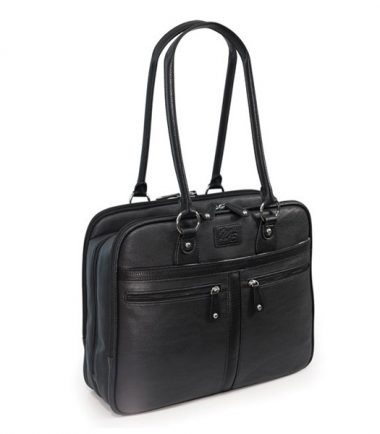 Verona Laptop Tote - Black-19105