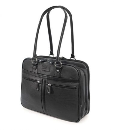 Verona Laptop Tote - Black-19103