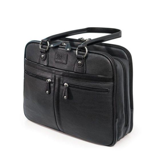 Verona Laptop Tote - Black-0