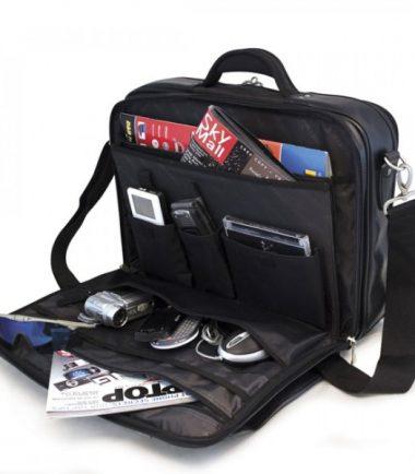 Premium Briefcase - Black (Laptop Bag) - Workstation