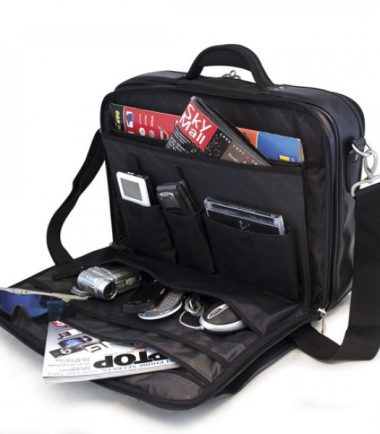 Premium Briefcase - Navy (Laptop Bag) - Workstation