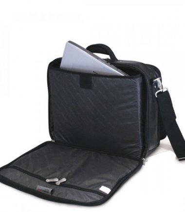 Premium Briefcase - Black (Laptop Bag) - Laptop Compartment