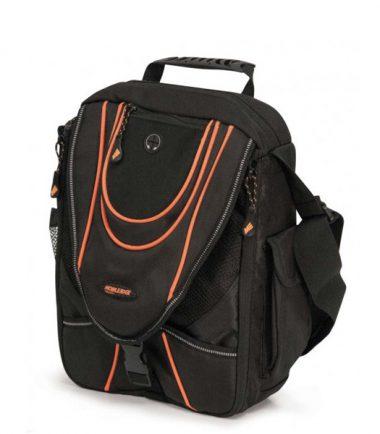 Mini Messenger - Black / Orange-0