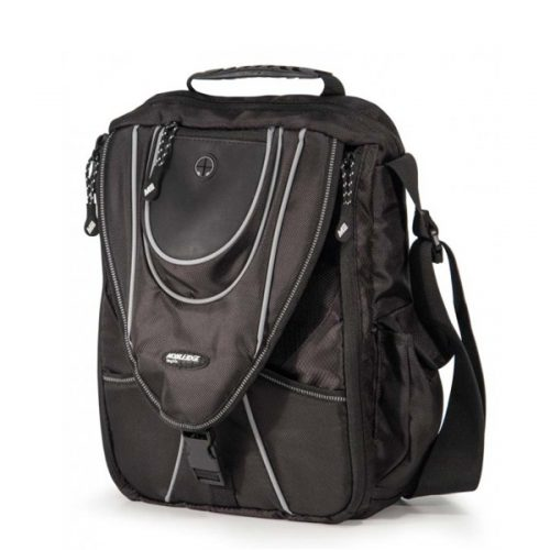 Mini Messenger - Black / Silver-0