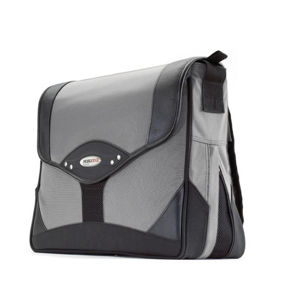 Premium Laptop Messenger Bag (Silver) -Fits laptops up to 15.4 inch