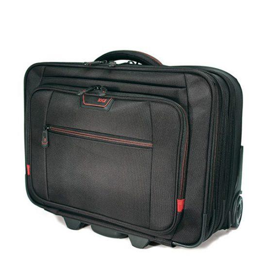 "Professional Rolling Laptop Case - 17.3"" - Black-0"