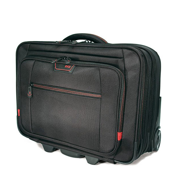 "Professional Rolling Laptop Case - 17.3"" - Black-0"