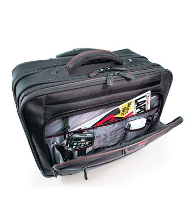 "Professional Rolling Laptop Case - 17.3"" - Black-19512"
