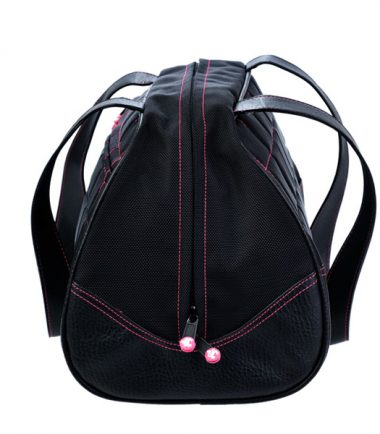 Sumo Duffel - Black with Pink Stitching - Medium-20765