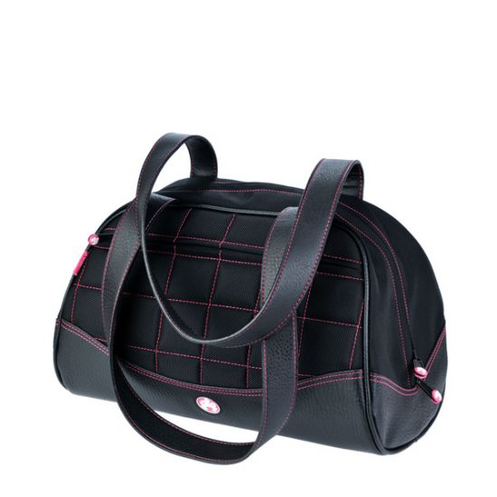 Sumo Duffel - Black with Pink Stitching - Medium-0