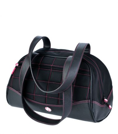 Sumo Duffel - Black with Pink Stitching - Large-0