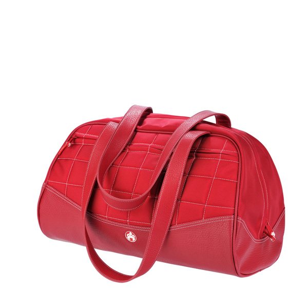 Sumo Duffel - Red with White Stitching - Medium-0
