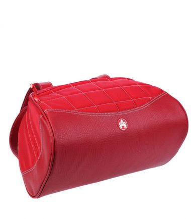 Sumo Duffel - Red with White Stitching - Medium-20768