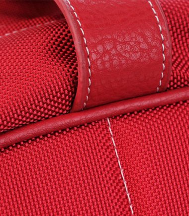 Sumo Duffel - Red with White Stitching - Large-20777