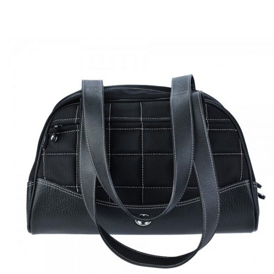 Sumo Duffel - Black with White Stitching - Medium -0
