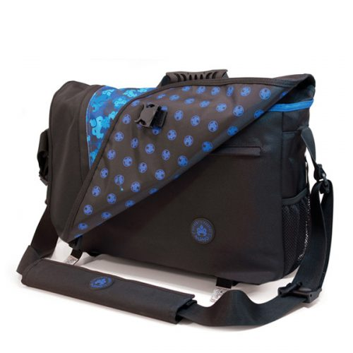 Sumo Messenger Bag - Black / Blue-0