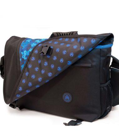 Sumo Messenger Bag - Black / Blue-19800