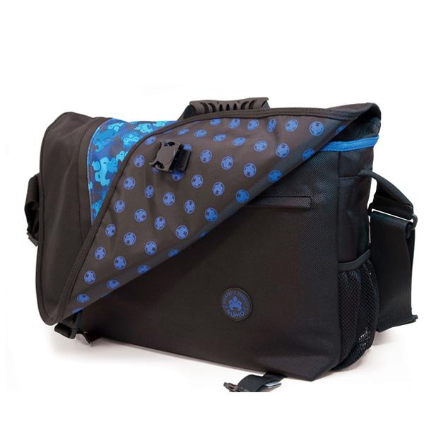 Sumo Messenger Bag - Black / Blue-0