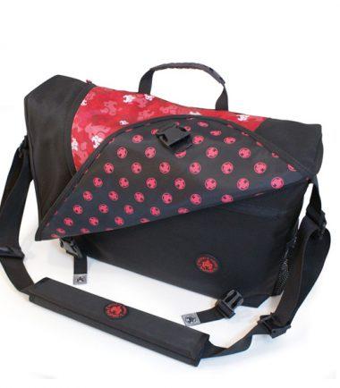 Sumo Messenger Bag - Black / Red-0