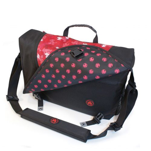 Sumo Messenger Bag - Black / Red-0