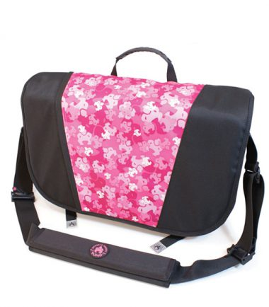 Sumo Messenger Bag - Black / Pink-19792