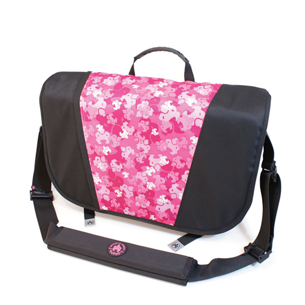Sumo Messenger Bag - Black / Pink-0