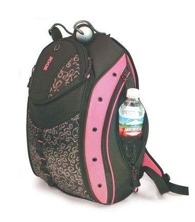 Express Laptop Backpack (Pink Ribbon) - Hidden Water Bottle Holder