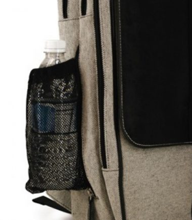 Paris Slimline Laptop Backpack - Water bottle holder