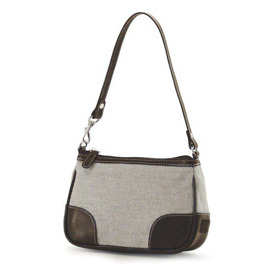 Madison Matching Clutch - Taupe / Chocolate-0