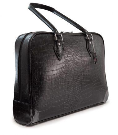 Milano Laptop Faux-Croc Handbag (Large)