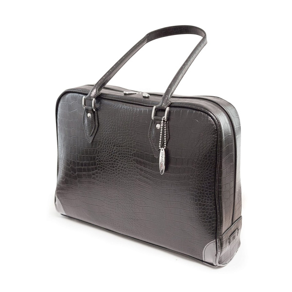 Milano Laptop Faux-Croc Handbag (Large) - Fits most PC laptops up to 17.3 inch