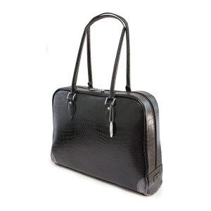 Milano Laptop Faux-Croc Handbag (Standard) - Fits laptops up to 16 inch