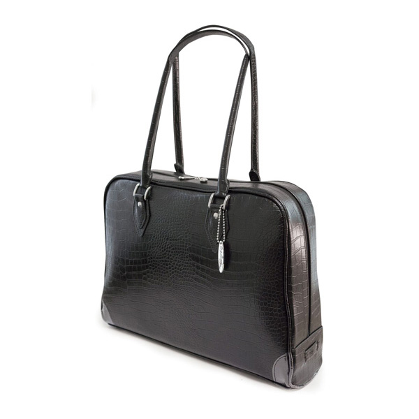 Milano Laptop Faux-Croc Handbag (Standard) - Fits laptops up to 16 inch