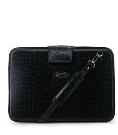 Portfolio - Black Faux-Croc (Large)-0
