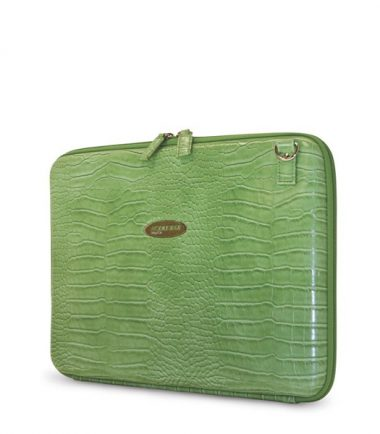 Portfolio - Green Faux-Croc-20483