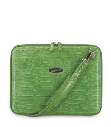 Portfolio - Green Faux-Croc-0