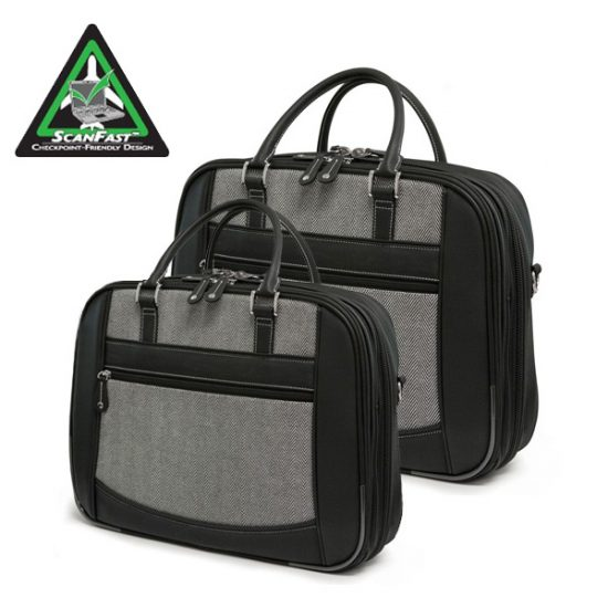 ScanFast Herringbone Element Briefcase-0