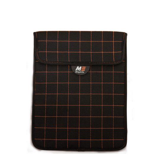 NeoGrid Tablet Sleeve (Black with Orange Stitching)-0