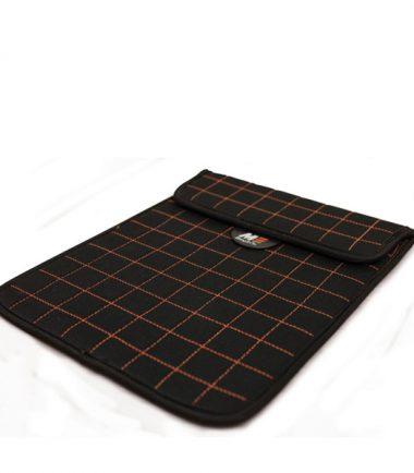 NeoGrid Tablet Sleeve (Black with Orange Stitching)-19915