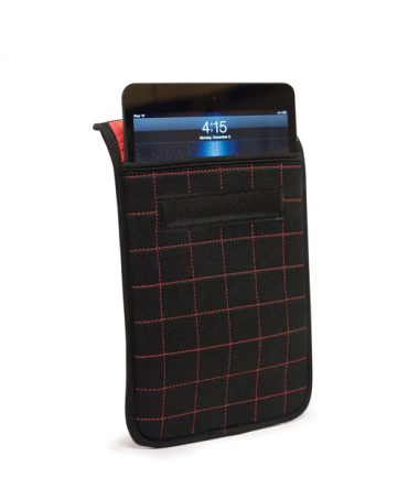 "NeoGrid iPad Mini 7"" Tablet Sleeve (Black with Red Stitching)-19891"