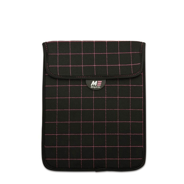 """NeoGrid iPad Mini 7"""" Tablet Sleeve (Black with Pink Stitching)-0"""