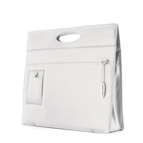 Ladies Briefcase - White Leather-0