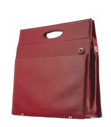 Ladies Briefcase - Red Leather-0