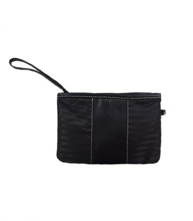 Ultra Tote - Black Leather (Laptop Bag) - Detachable cosmetics/accessory pouch