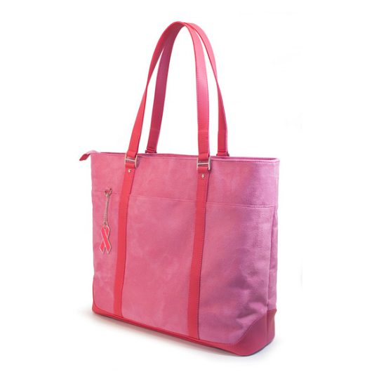 Pink Faux-Suede Tote-0
