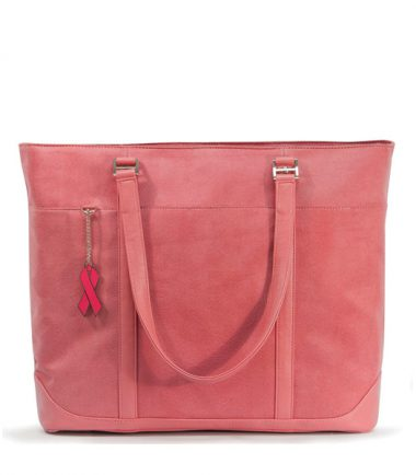 Pink Faux-Suede Tote-20467