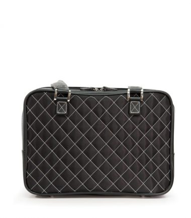 Monaco Handbag - Quilted Black / White-20355